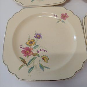 Vintage Dining - Vintage Wells by Homer Laughlin Co., Floral Plates